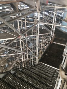 Verulam Water Tower Scaffolding stairs set up by TCS Construction