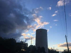 Evening shot of Verulam Water Tower Wrapped By TCS Construction