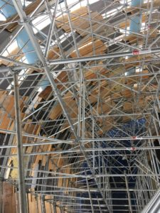 Interior shot of Verulam Water Tower Scaffolding set up by TCS Construction